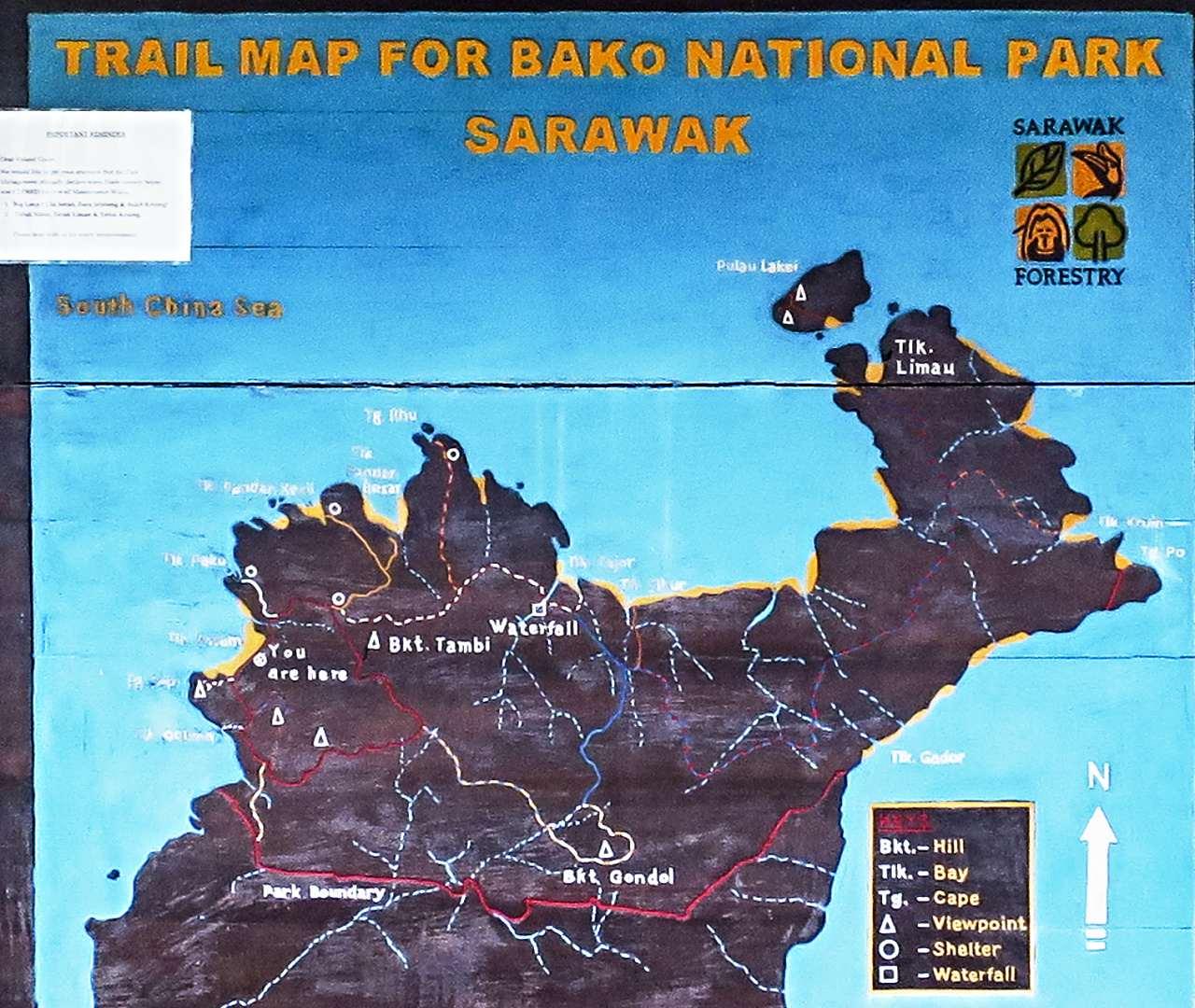 NP Bako - plánek
