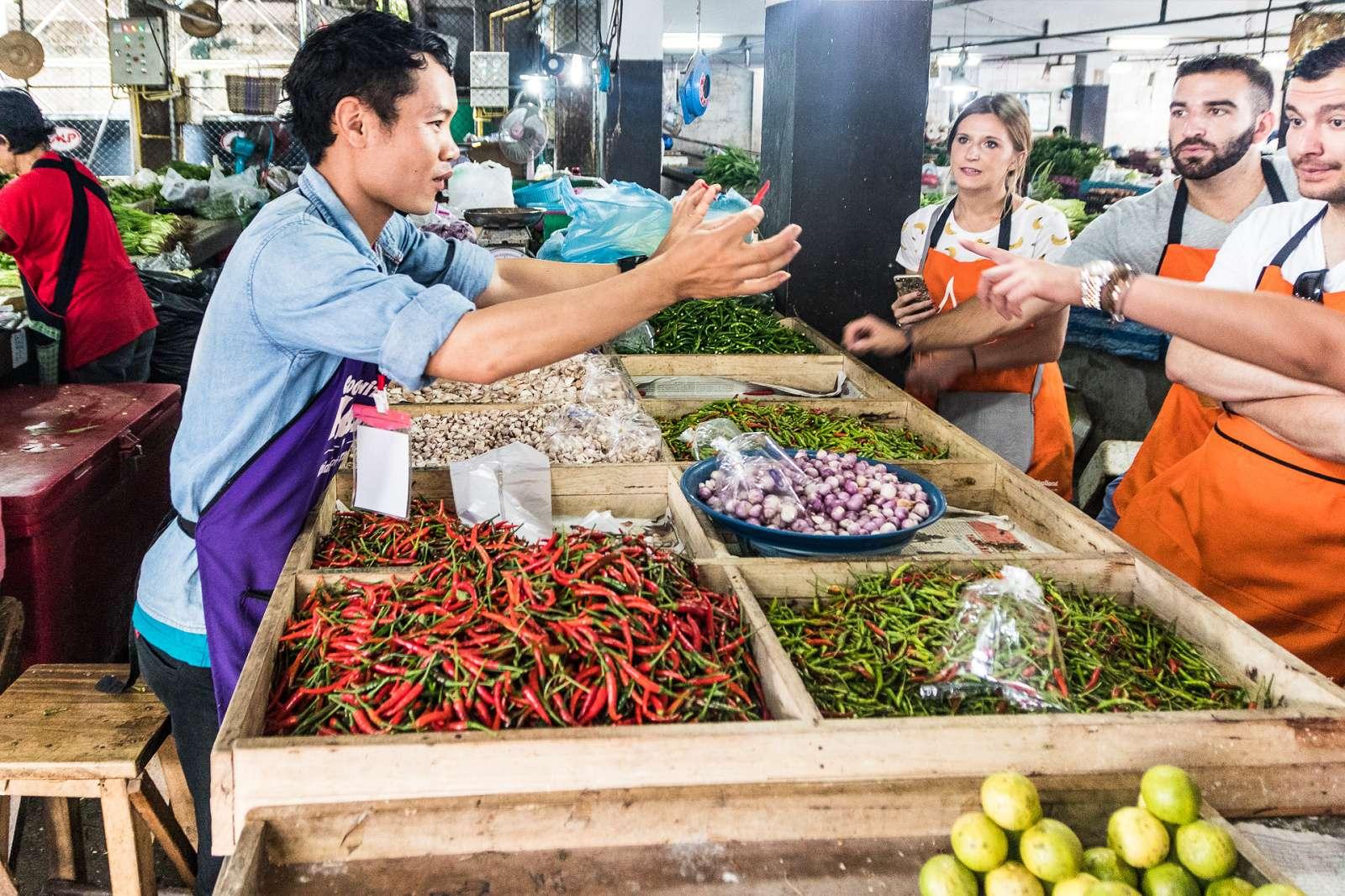 Kurz thajské kuchyně - návštěva trhu