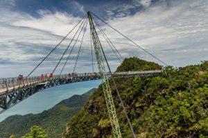 Skybridge na hoře Gunung Machinchang